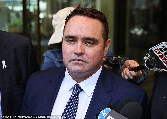 Berger, 36, was one of two Perth men that McCormack (pictured) spoke with about his child sex fantasies. The TV reporter was last year sentenced to a three-year good behaviour bond
